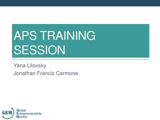 APS TRAINING SESSION