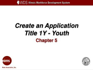 Create an Application Title 1Y - Youth