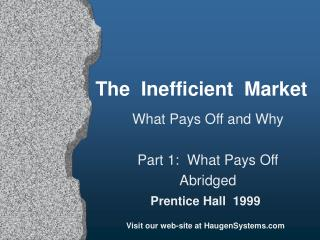 The  Inefficient  Market