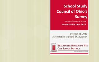 School Study  Council of Ohio's Survey