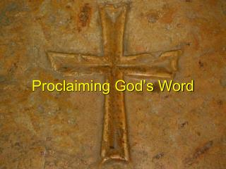 Proclaiming God's Word