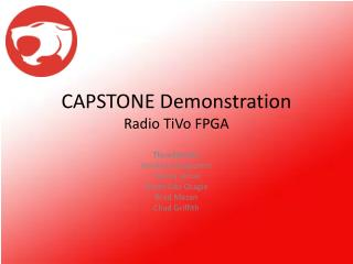 CAPSTONE Demonstration Radio TiVo FPGA