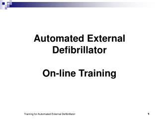 Automated External Defibrillator On-line Training