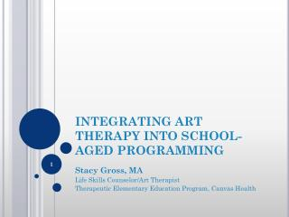 INTEGRATING ART THERAPY INTO SCHOOL-AGED PROGRAMMING