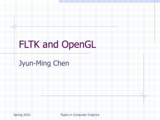 FLTK and OpenGL