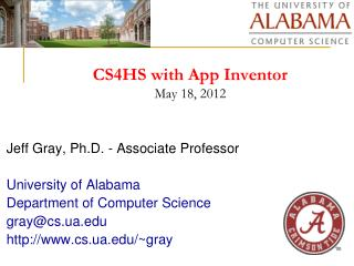 CS4HS with App Inventor May 18, 2012