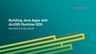 Building Java Apps with ArcGIS Runtime SDK