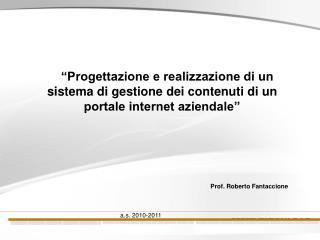 Prof. Roberto Fantaccione