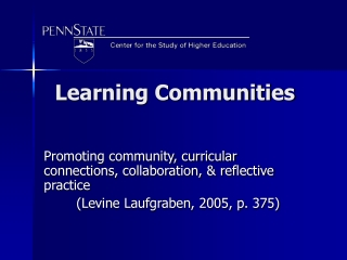 LEARNING COMMUNITIES: