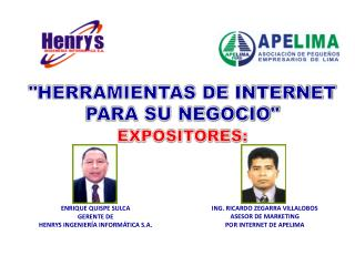 ING. RICARDO ZEGARRA VILLALOBOS ASESOR DE MARKETING  POR INTERNET DE APELIMA