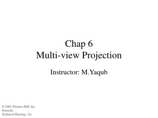 Chap 6  Multi-view Projection
