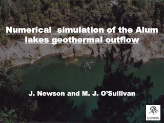 Numerical   simulation of  the Alum lakes  geothermal outflow