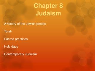 Chapter 8 Judaism
