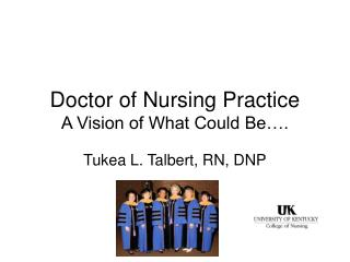 Doctor of Nursing Practice A Vision of What Could Be….