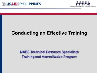 Conducting an Effective Training