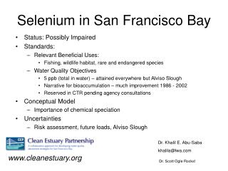 Selenium in San Francisco Bay