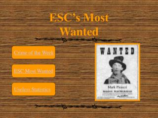 ESC's Most Wanted