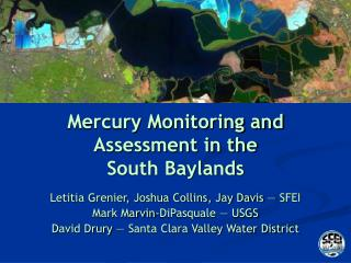 Mercury Monitoring and Assessment in the  South Baylands