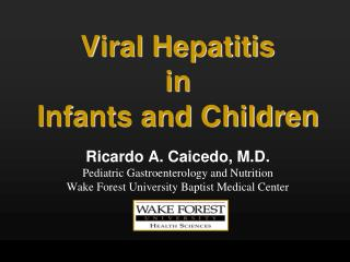 Viral Hepatitis in Infants and Children