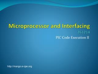 Microprocessor and Interfacing 261214