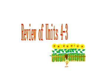 Review of Units 4-3