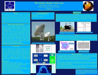The Smiley Radio Telescope R.M. Blake, M. Castelaz, L. Owen,