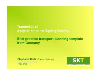 Transed 2012  Adaptation to the  Ageing  Society