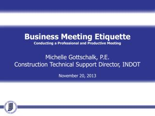 Business Meeting Etiquette Conducting a Professional and Productive Meeting