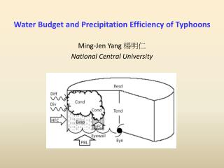 Water Budget and Precipitation Efficiency of Typhoons