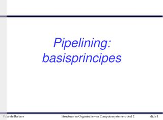 Pipelining: basisprincipes