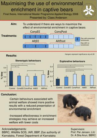 Maximising the use of environmental enrichment in captive bears
