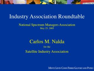 Industry Association Roundtable
