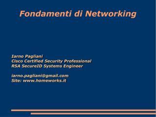 Fondamenti di Networking