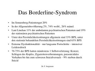 Das Borderline-Syndrom