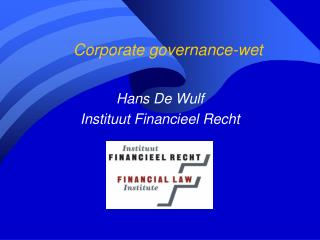 Corporate governance-wet