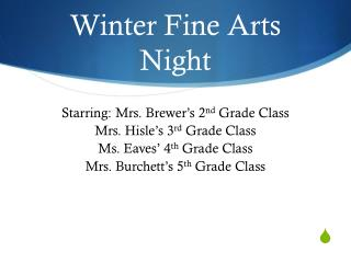 Winter Fine Arts Night