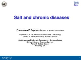 Salt and chronic diseases