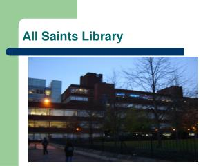 All Saints Library