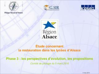 Étude concernant  la restauration dans les lycées d'Alsace