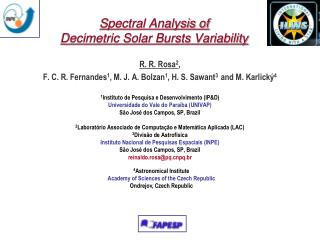 Spectral Analysis of  Decimetric Solar Bursts Variability