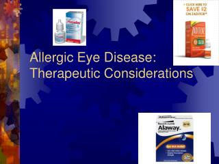 Allergic Eye Disease: Therapeutic Considerations