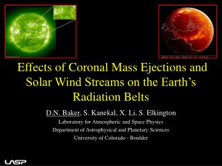 Effects of Coronal Mass Ejections and Solar Wind Streams on the Earth's Radiation Belts