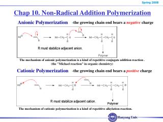 Chap 10. Non-Radical Addition Polymerization