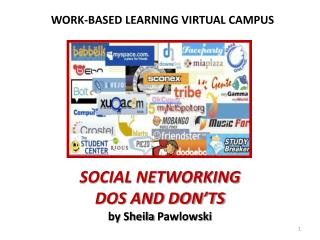 SOCIAL NETWORKING DOS AND DON'TS  by Sheila  Pawlowski