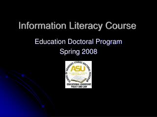 Information Literacy Course