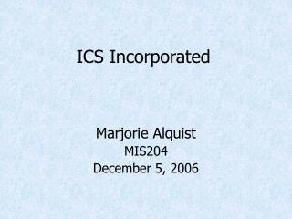 ICS Incorporated