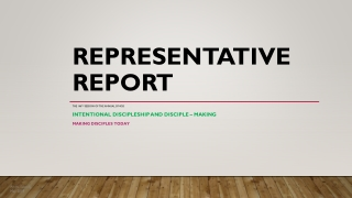 Representative Report