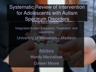 Systematic Review of Intervention for Adolescents with Autism Spectrum Disorders