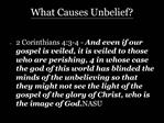 What Causes Unbelief