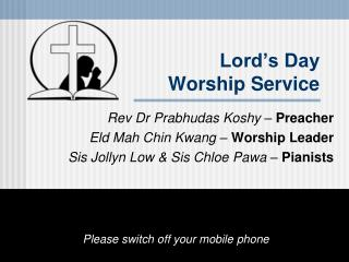 Lord's Day Worship Service